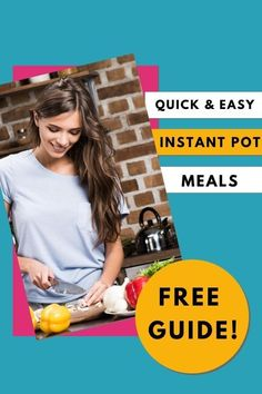 The Instant Pot is an amazing tool for simplifying dinner time! Grab the Instant Pot Meal Plan Jumpstart and learn how to save time and wow your family with quick and easy meals.