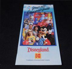 1988 Your Souvenir Guide DISNEYLAND Information Booklet #Disney
