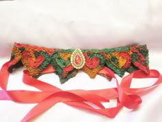 Belt,Cummerbund,Sash,Red Hearts,Rhinestone,Beads #Unbranded #CummerbundBeltsashBelt