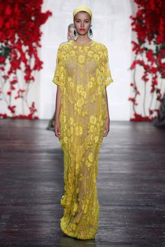 Look 17 Naeem Khan 2016 This is dripping with beauty.