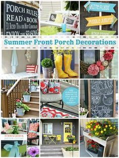 Summer Front Porch Decorating Ideas, I think we could brighten the front up with a few of these