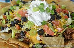 A Cozy Place Called Home: Healthier Nachos Supreme (Gluten Free & Lower Fat)