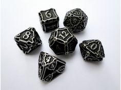 Premier Dice Set with Decader by ceramicwombat on Shapeways. Learn more before you buy, or discover other cool products in Dice. Dungens And Dragons, Dungeons And Dragons Dice, Tabletop Rpg, Tabletop Games, Game Master, 3d Prints, Fantasy Rpg, Magic The Gathering, Decir No