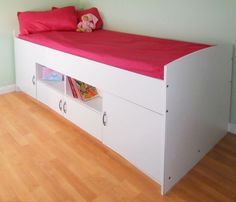 Teenagers Beds childrens teenager cabin bed with wall cabinet | household wants