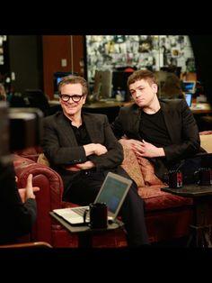 Taron and Colin Firth