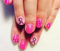 Day 292: Rhinestone Ribbon Nail Art - - NAILS Magazine