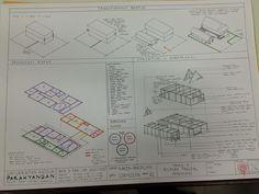 Konsep Perancangan Rumah Tinggal Seniman (2) #spa3 Architecture Concept Drawings, Vernacular Architecture, Wedding Invitations, Spa, Artwork, Diagram, Studio, Modern, Ideas