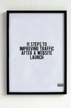 """""""11 Steps to Improving Traffic After a Website Launch"""" : IMO Ink Blog"""