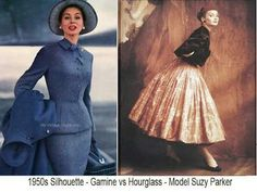 Silhouette slender yet sophisticated in 1950