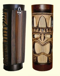 Hawaiian Tropical Tiki Face Style Wooden Wall Sconce Night Light Lamp New T4 on eBay! $32