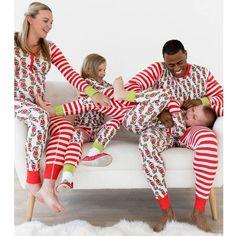 e020b30ae5 Matching Family Christmas Pajamas Set - Elf Cartoon