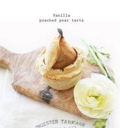 vanilla poached pear tarts