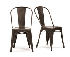 Buy the Rust Metal Chairs at Oak Furniture Superstore Black Dining Chairs, Metal Chairs, Oak Furniture Superstore, Rusted Metal, Black Metal, Industrial Style, Contemporary Style, Cool Things To Buy, Dark Blue