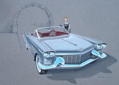1954 Cadillac La Espada Show Car – Brad Leisure Design via bradleisure.com