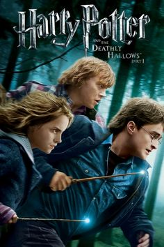 Harry Potter and the Deathly Hallows - Part 1 Movie Poster - Daniel Radcliffe, Rupert Grint, Emma Watson  #MoviePoster, #ActionAdventure, #DavidYates, #DanielRadcliffe, #EmmaWatson, #Part1Poster, #RupertGrint