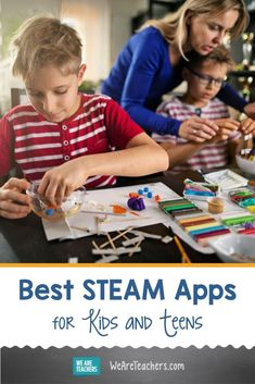 Best STEAM Apps for Students in the Classroom and at Home Cool Science Experiments, Science Lessons, Stem Science, Education Middle School, Middle School Science, Teaching Kindergarten, Teaching Science, Touch Math, Teen Kids