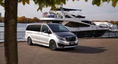 New design Mercedes V-Class body kit 2020 by LARTE Design Yacht Club, Black Crystals, E Design, Mercedes Benz, Transportation, Cottage, Minivan, Car, Positive Life