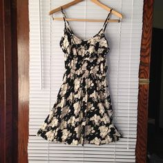 Floral sundress Pretty floral sundress-- black with pale pink roses ☀️ Cotton On Dresses Midi