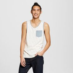 Men's Fashion Tank Top with Pocket Charcoal S - Mossimo Supply Co., Gray