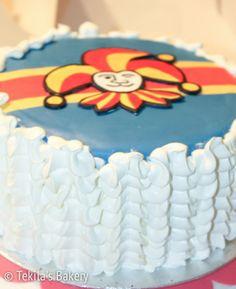 Jokerit cake (Ice hockey team in Finland.)