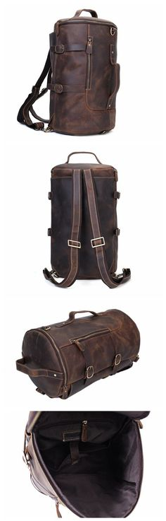 Handmade Vintage Leather Backpack, Travel Backpack, Messenger Bag, Sling Bag Z106