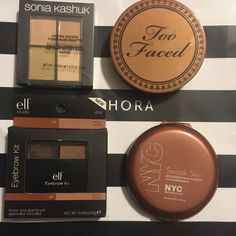 Makeup lot - too faced chocolate Bronzers were used a few times. Elf and Sonia are sealed brand new. Too Faced Makeup