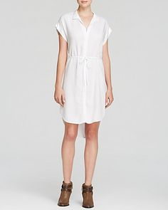 $158 size medium, Bella Dahl Shirt Dress - Pleat Back | Bloomingdale's