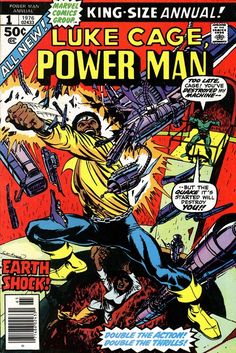 Luke Cage, Powerman Annual #1, 1976, cover by Dave Cockrum