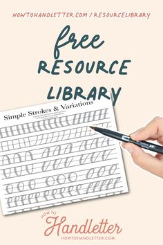 Here, you will find printable resources for your handlettering and creative journaling ventures! Created by Suzy Grace of How to Handletter #handletteringtips #handlettering #printables #handletteringworksheets #calligraphy Calligraphy For Beginners, Calligraphy Tutorial, Learn Calligraphy, Lettering Tutorial, Hand Lettering Quotes, Lettering Styles, Brush Lettering, Library Signs, Drawing Letters