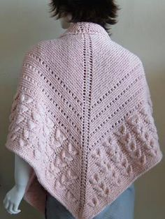 Simple Knit Shawls Pattern - has variety in design..