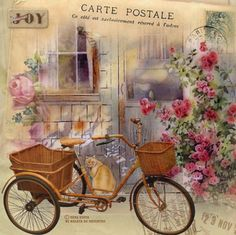 MI MALETA DE RECORTES: Láminas con Bicicletas, Flores, y algún Hada soñadora-Nena Kosta