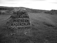 Mass Clan Grave Headstone - Culloden field near Inverness, Scottish Highlands.