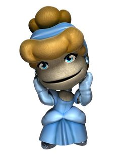 Cinderella as a Little Big Planet character