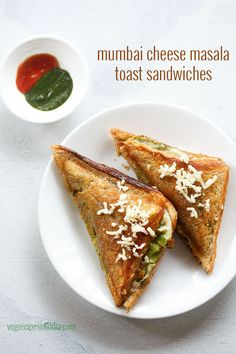 mumbai cheese masala toast sandwich recipe - a popular variety of sandwich which is also a mumbai street food.  #sandwich #mumbaisandwich Mumbai Street Food, Indian Street Food, Best Street Food, Veg Sandwich, Toast Sandwich, Sandwich Spread, Chicken Sandwich, Indian Snacks, Indian Food Recipes