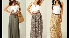 how to make a maxi skirt in 5min easy for beginners sewing, via YouTube.