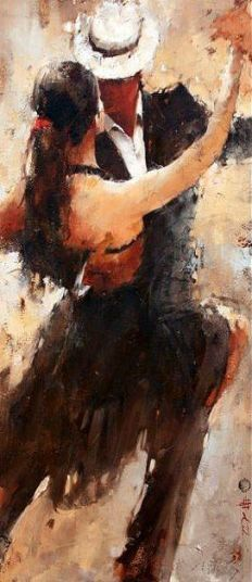 Andre Kohn - Born in Stalingrad in the heart of the former Soviet Union.--> I had my first Argentine Tango lesson today. It was very challenging, but in all of the right ways because I want to do this dance so badly. Love Art, Oeuvre D'art, Painting & Drawing, Figure Drawing, Amazing Art, Art Photography, Street Art, Art Gallery, Drawings