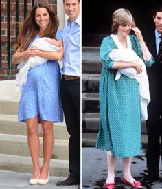 Polka-dot dresses obvioously work for new Royal mothers!