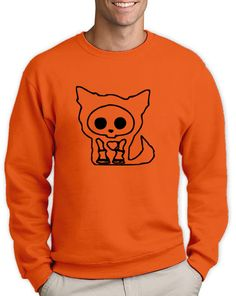 If you want a baggy t shirt then buy the size up. Great Halloween Costumes, Halloween Ideas, Scary Cat, Funny Sweatshirts, Fancy Dress, Sweaters, T Shirt, Stuff To Buy, Dresses