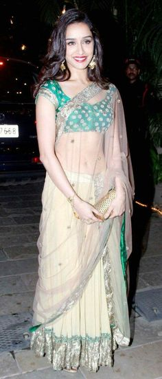 shradda kapoor in net saree