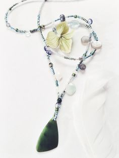 Big Sur Jade - 'Storm Tide' Moonstone, Prehnite, Aquamarine, Iolite, Labradorite Ceremonial necklace