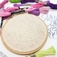 Basic Embroidery Stitches, Embroidery Stitches Tutorial, Embroidery Flowers Pattern, Learn Embroidery, Modern Embroidery, Hand Embroidery Patterns, Geometric Embroidery, Embroidery With Beads, Tumblr Embroidery