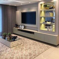 How To Quickly And Easily Create A Living Room Furniture Layout? Living Room Wall Units, Living Room Tv Unit Designs, Living Room Decor, Modern Tv Wall Units, Tv Wall Decor, Tv Wall Design, Home Interior Design, Home Decor, Toledo Pr