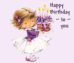 Feechka (pictures for decoupage) - Decoupage - Country Mom Birthday Pictures, Birthday Images, Decoupage, Happy Birthday Wishes, Birthday Greetings, Happy Birthday Little Girl, Art Mignon, Cute Clipart, Girl Clipart