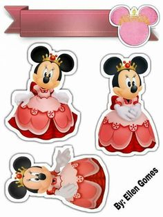 1ano Minnie Mouse Party, Mickey Mouse, Sticker Paper, Stickers, Bolo Minnie, Autograph Books, Cute Clipart, Mini Mouse, Disney Cruise