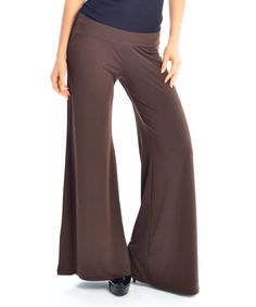 Love this Brown Palazzo Pants by Zac Studio on #zulily! #zulilyfinds
