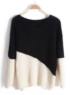 Black Long Sleeve Mohair Sweater