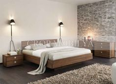 Metal-free Bedroom Furniture from Natural Hardwood by Team 7 Modern Bedroom Furniture, Modern Bedroom Design, Solid Wood Furniture, Contemporary Bedroom, Custom Furniture, Bedroom Designs, Contemporary Furniture, Bedroom Ideas, Furniture Design