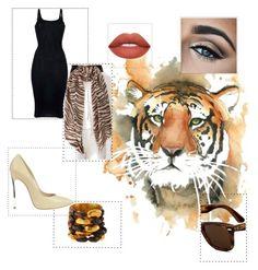 """tiger"" by hajimemashite-alice-desu on Polyvore featuring Viktoria Hayman, Casadei, Qasmyr, Gentryportofino and Ray-Ban"