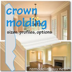 Crown Molding Ideas, Sizes, Profiles and Options | RemodelingGuy.net