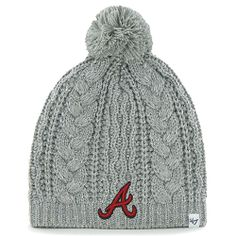 Women's Los Angeles Kings '47 Brand Gray Kiowa Pom Knit Hat ...
